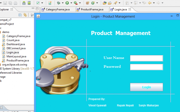 Simple Product Management System in Java