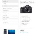 Coming soon products module