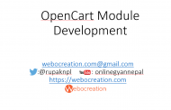 OpenCart Module Development Video Tutorial Introduction and Table of Contents
