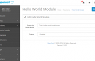Admin Template file to make hello world – OpenCart Module Development