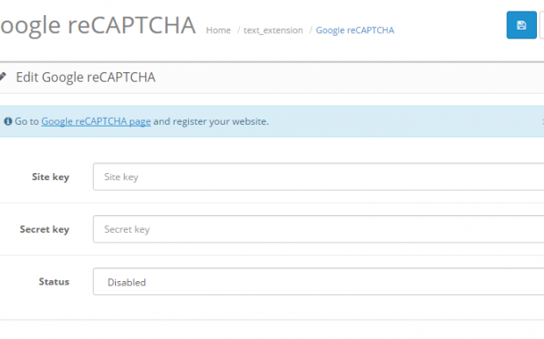 Set up Google reCaptcha or Basic Captcha in OpenCart 2.3.0.1