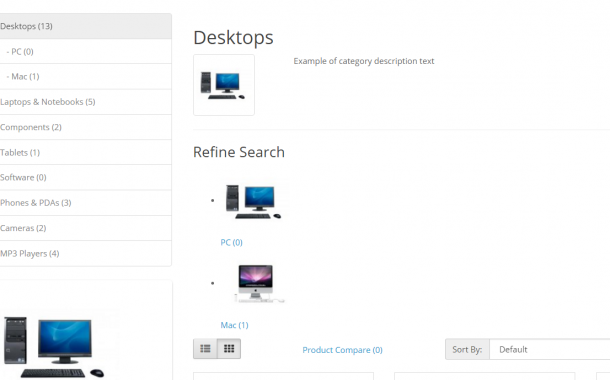 Show images for the sub-categories in the opencart version 2.3