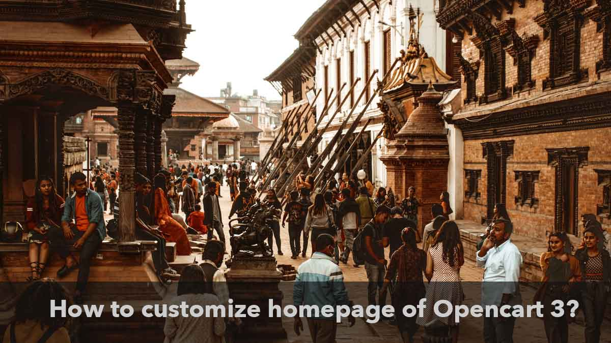 How to customize the Opencart homepage? version 3