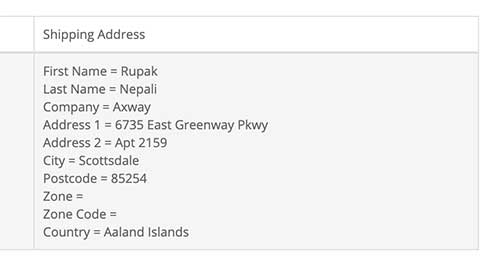 Shipping and billing address format in Opencart