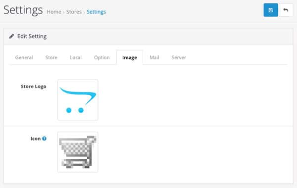 Image logo and favicon in Opencart