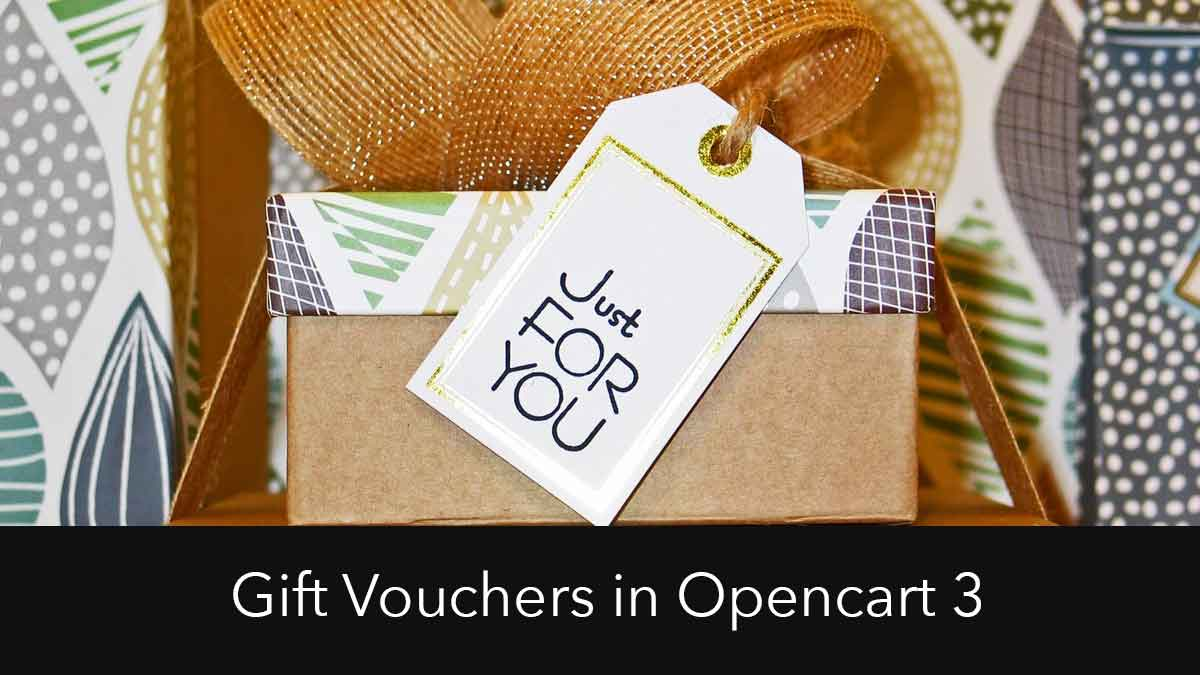 Manage, send, apply and design custom Gift Vouchers in Opencart 3