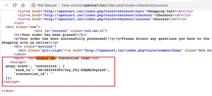 conversion-code-at-success-page-only