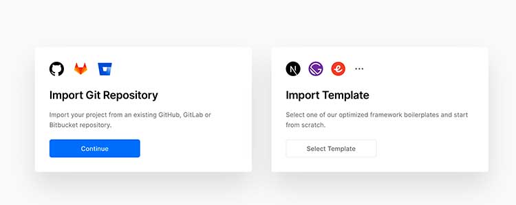 Importing git repository on NextJs