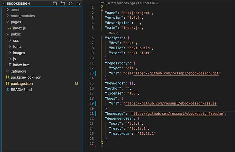 Files and folders structure of NextJs