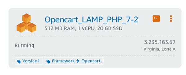 Opencart Lamp stack
