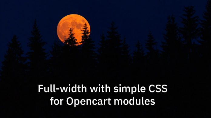 Opencart modules full-width with CSS